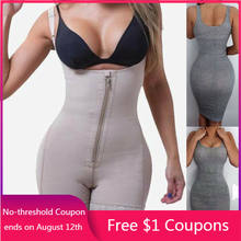 Full Body Shapewear Compressie Kledingstuk Corset Firm Tummy Controle Rits Voor Open Buste Latex Bodysuit Afslanken Dij Plus Size(China)