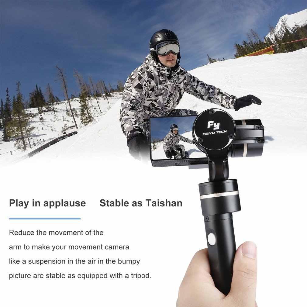 G4 QD desmontaje rápido cardán de mano estable de 3 ejes para Feiyu Tech para GoPro Hero4/3 +/3 cámaras de acción de tamaño Similar