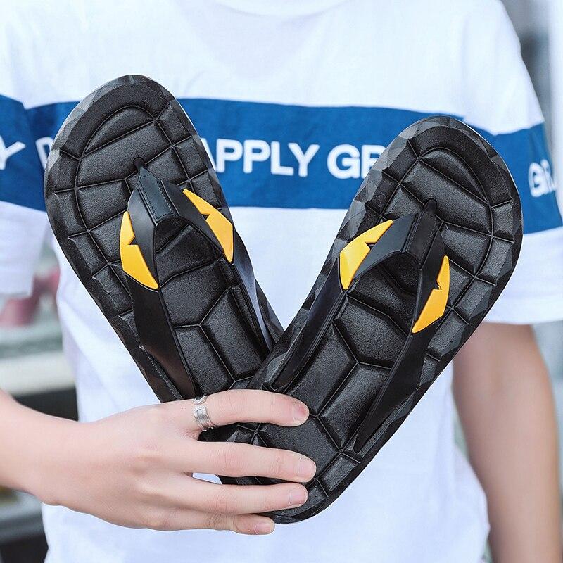 Summer Beach Shoes Comfortable Seaside Water Sandals Big Size EUR37-46 Man Sandals Beach Flip Flops Fashion Flip Flops For Boys