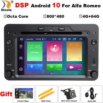 DSP Octa Core 4G+64G Android 10 Car DVD Multimedia Player for Alfa Romeo 159 Sportwagon Brera Spider with wifi GPS Radio stereo