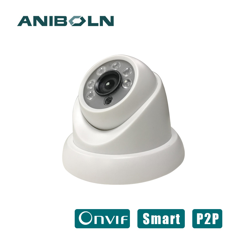 1080P IP Camera Dome 2MP support POE night version 25fps H.265 Security Camera 3.6mm Wide Lens P2P Onvif for surveillance system