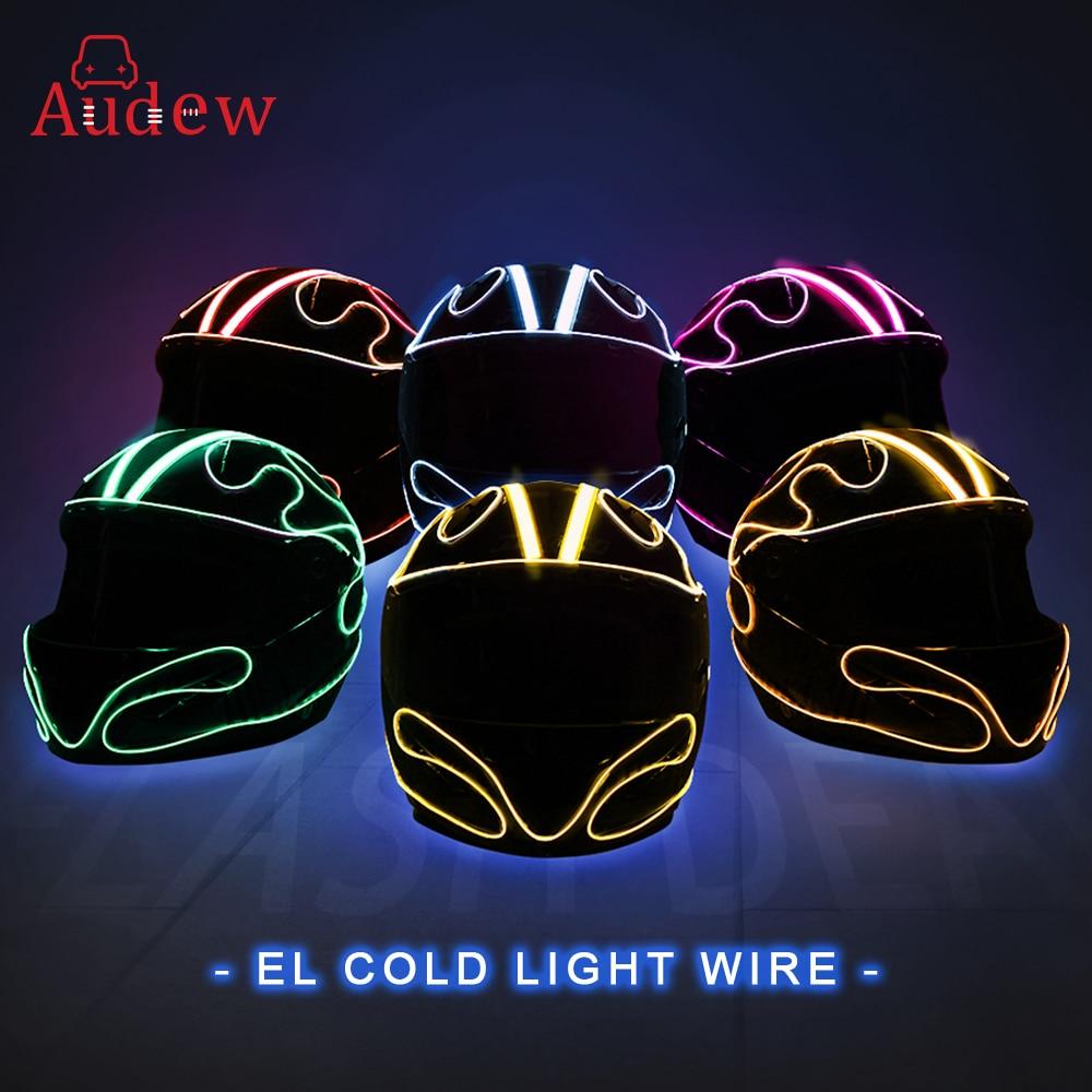 Motorcycle Helmet Strip EL Emitting Cold Light Helmet Flashing Bars  Helmet Luminous Strip DIY Modified Helmet Light Sticker