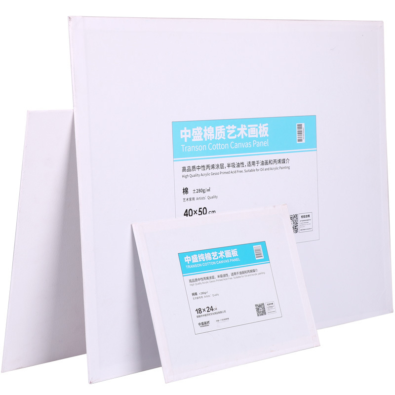 ZHONGSHENG 280G Cotton Cloth Oil Painting Board Paintcoat Cloth Acrylic Painting Suet Drawing Board-Straight Connector Painting