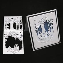 Рождественские металлические режущие штампы трафареты для скрапбукинга, штамп для альбомов, бумажные карточки, тиснение, новые высечки FDH