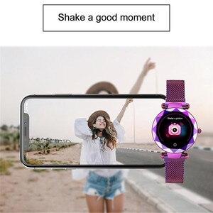 Image 5 - Lady HI18 Dress IP67 Waterproof Women Smart Bracelet Heart Rate Monitor Fitness Tracker Women Watch Wristwatch Band