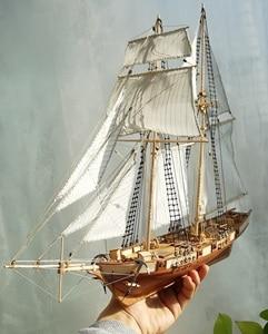 Sailboat model assembly kit scale 1:96 Harvey Sailboat Model Kit
