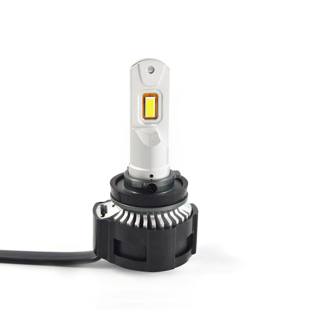 2X H4 светодиодный H7 H11 H8 HB4 HB3 5202 Авто P18 автомобильные лампы для передних фар 104 Вт 18000LM стайлинга автомобилей Яркий белый светодиодный автомобильный 0,15 мм - 5