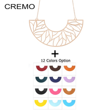 Cremo Chain Pendant Necklace Trendy Interchangeable Leather Choker Necklaces & Pendants for Women