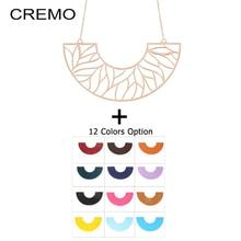 Cremo Chain Pendant Necklace Trendy Interchangeable Leather Pendant Choker Necklaces & Pendants for Women Pendant Necklace 2019 fashion trendy geometric pendant leather chain necklaces