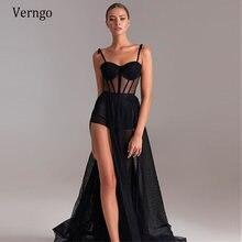 Черное вечернее платье трапеция verngo модель 2021 года топ