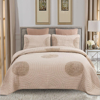 3pcs Crop circles Bed cover Grey/Khaki Bedspread large size Bedding set Double bed Comfortable Quilt Quilting Blanket Pillowcase