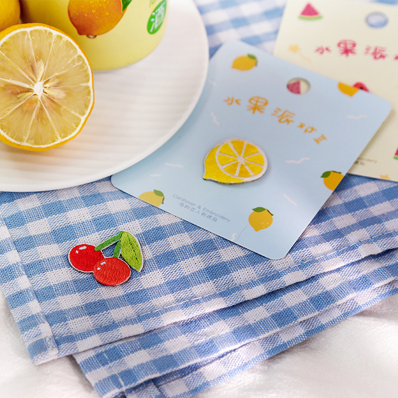 Letter's Lover Embroidery Sticker Fruit Party 2 Series DIY Clothing Receiving Bag Handbook Decorative Cloth Stickers