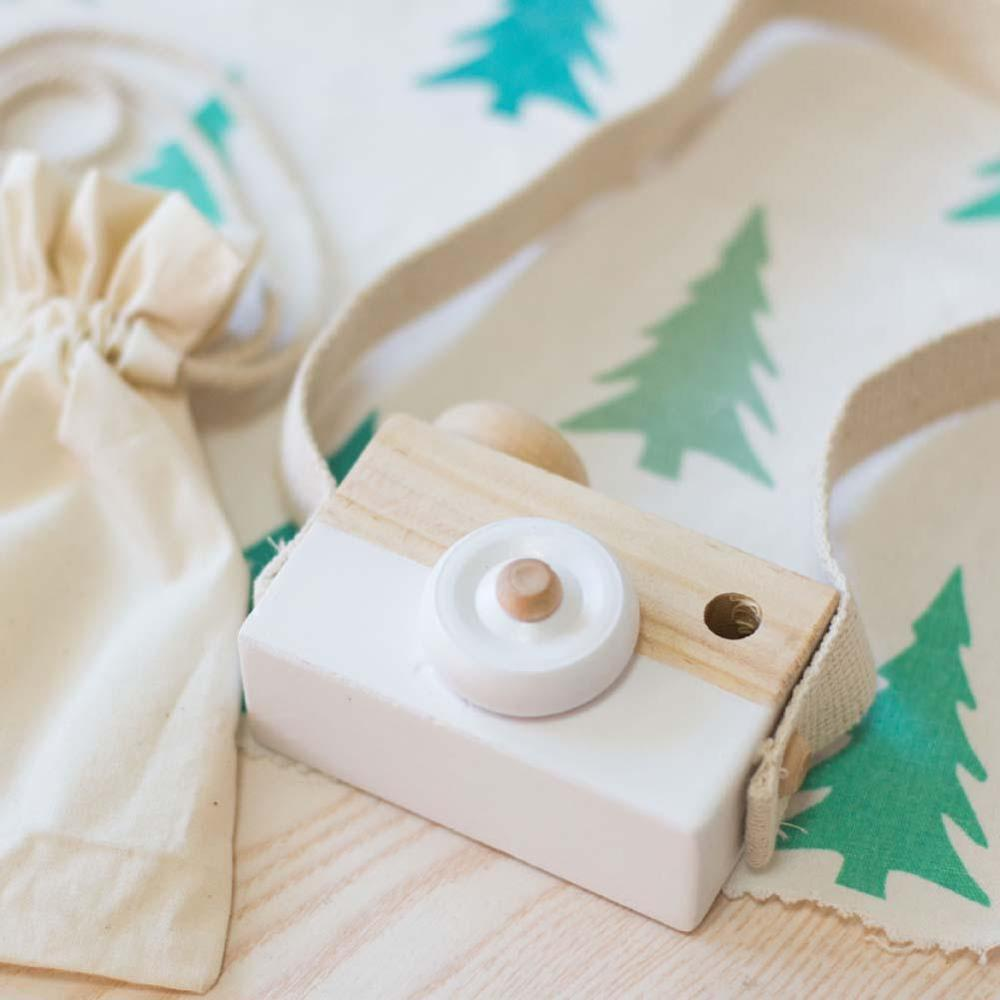 Kids Cute Wood Camera Toy Xmas Children Room Decor Safe Wooden Camera White Cute Nordic Hanging Wooden Camera Toys Kids Toy Gift