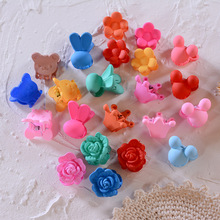 10pc/pack Colorful Small Hair Claw Cute Clip for Girls Kids Plastic Flower Mini Hairpins Children Accessories headwear