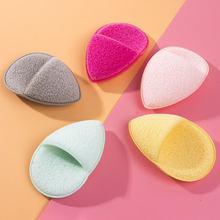 2 piezas de forma redonda cómoda limpieza Puff limpieza Facial esponja maquillaje cara almohadillas suaves belleza maquillaje herramienta de cuidado