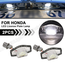 2 XBao Honda Civic Jazz Odyssey Suối Cái Nhìn Sâu Sắc CR V FR V HR V Crosstour 5D DXY Nguyên Tố Logo LED Giấy Phép Biển Số đèn Đèn