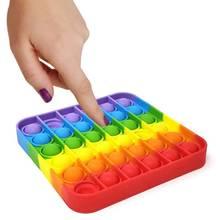 Bolha poppit fitget brinquedos empurrá-lo bolha fidget brinquedo sensorial autismo especial simples dimple precisa estresse reliever popit fidget brinquedos