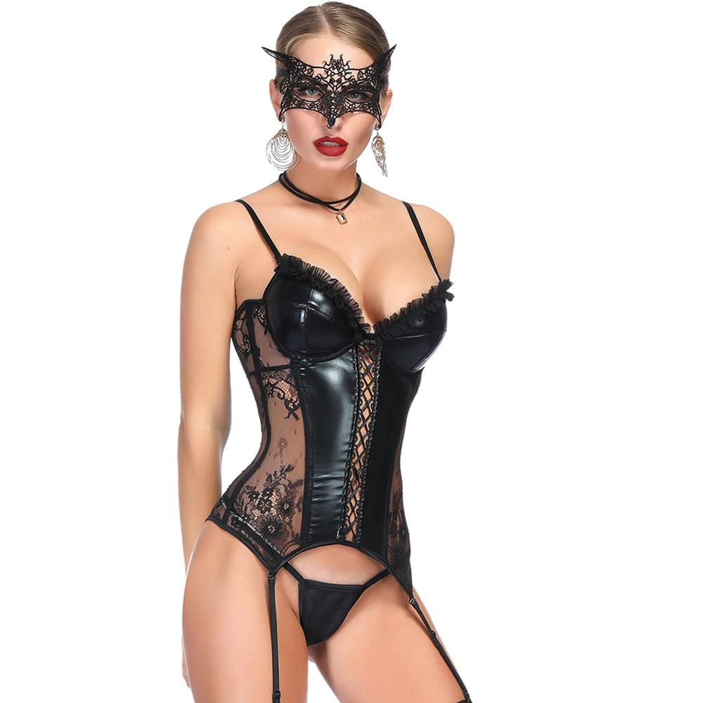 Corset Steampunk Bustier Corset Gothic Sexy Lingerie Waist Trainer Corselet Women Burlesque Bodice Gothic Clothing Waist Corset