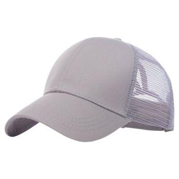 Adult Children Summer Cotton Baseball Cap Plain Solid Color Breathable Mesh Back Adjustable Snapback Sports Sunshade Trucker Hat - discount item  20% OFF Hats & Caps