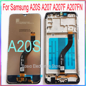 for Samsung A20S LCD screen display A207 A207F A207F/DS A207FN A207U A207W A207G/DS with touch with frame assembly(China)