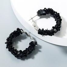 Модные серьги кольца с блестками ювелирные изделия геометрическим