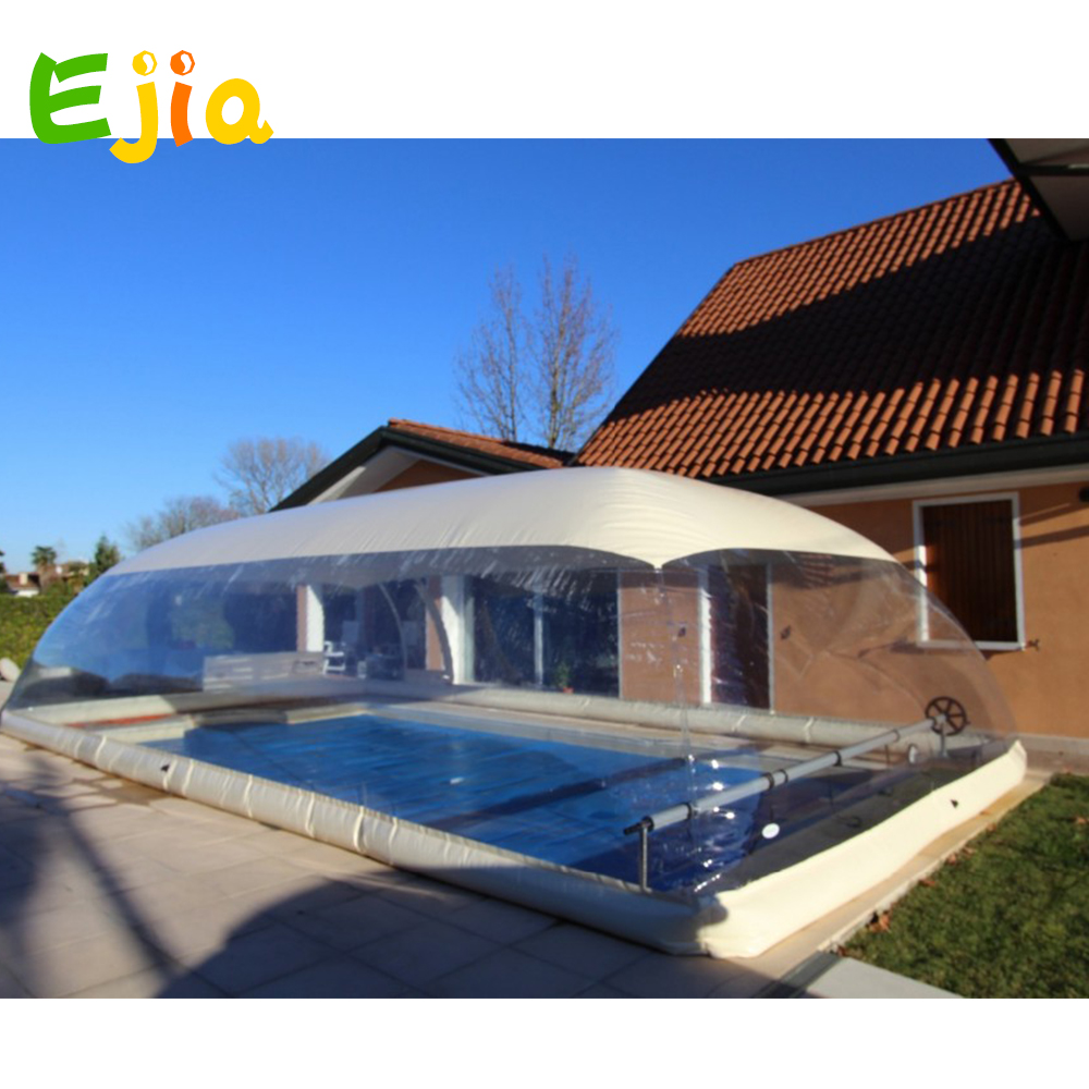 Outdoor customized clear inflatable pool dome with covered ceiling from China inflatable pool cover factory