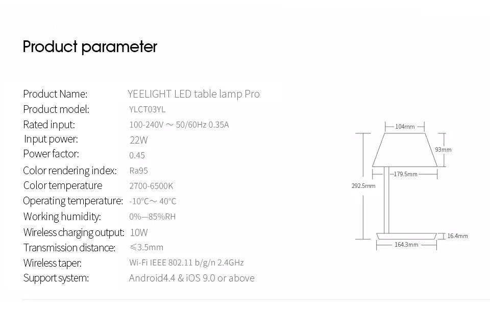 remoto regulável 10w carregamento sem fio mesa luz