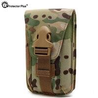 Protetor mais tático molle bolsa impermeável náilon militar saco do telefone móvel ao ar livre escalada ciclismo caça caso ocasional saco