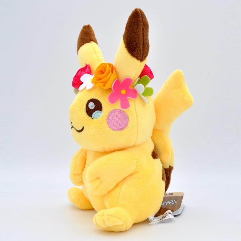 takara-tomy-doll-font-b-pokemon-b-font-mega-plush-pikachun-flower-for-children-birthday-christmas-gifts-20cm