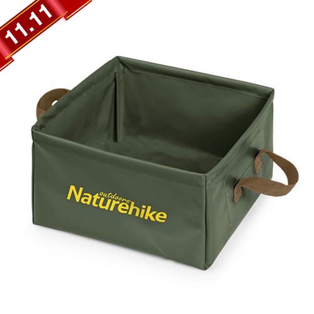 13L Outdoor Folding Square Bucket Large Capacity Portable Camping Bucket Travel Multifunctional Storage Bucket Washbasin