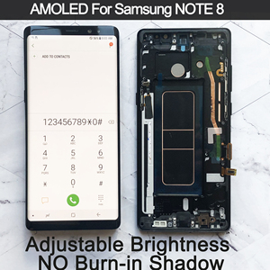 """Image 1 - 6.3"""" Original AMOLED Display For SAMSUNG Galaxy NOTE 8 LCD N950 N950F N950N Display For Note8 Touch Screen Replacement Parts"""