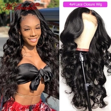 Wig Lace Closure Lace-Front-Wigs Human-Hair Body-Wave Ali-Annabelle Natural Brazilian