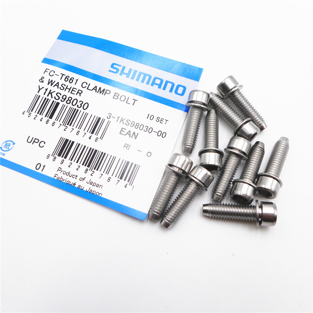 Pack of 6 Bike Crank Arm Screw Bicycle Chainrings Bolts Bike Replacing Parts