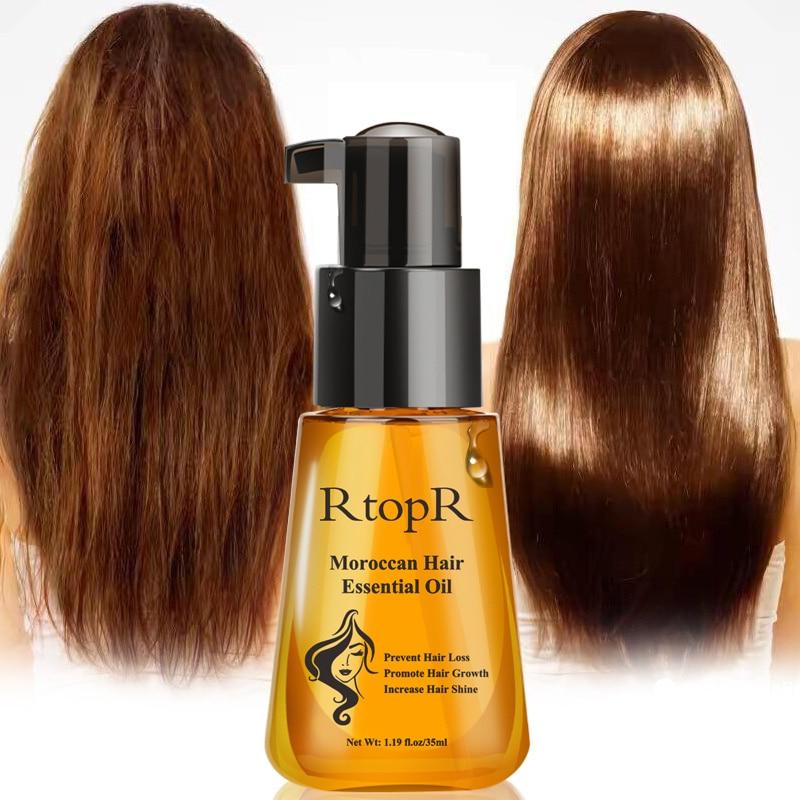 Moroccan Prevent Hair Loss Product Hair Growth Essential Oil Damaged Hair Care Repair Nursing 35ml Fast Hair Growth Oil Serum