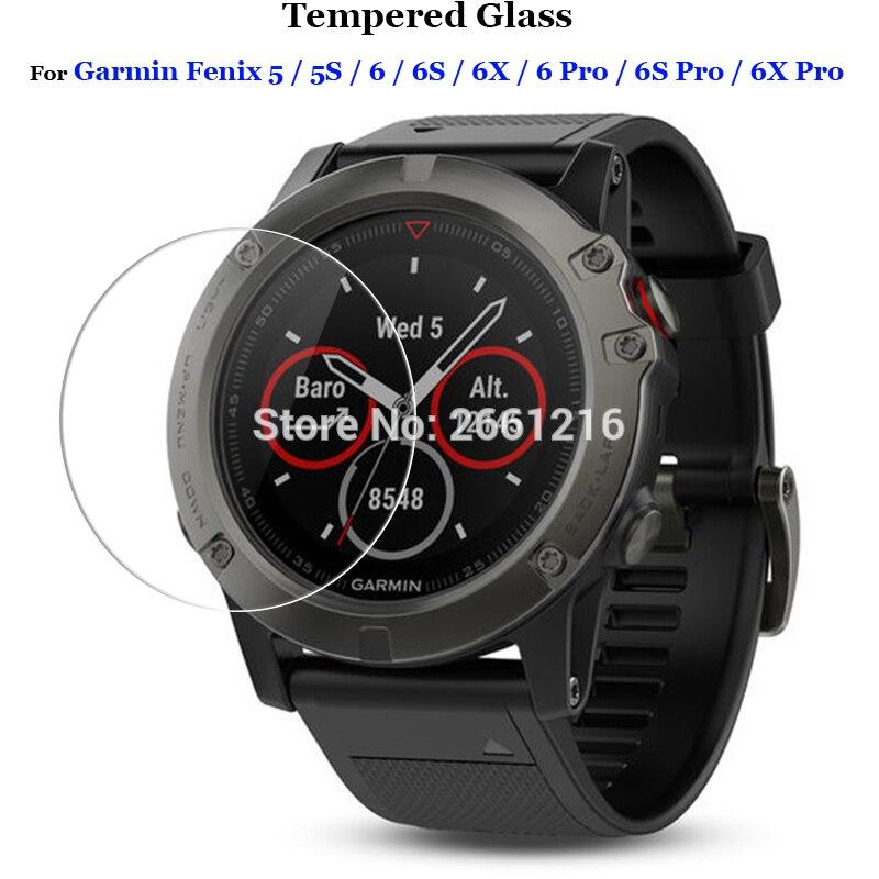 3 unids/lote película protectora para Garmin Fenix 5 5S 6 6X 6S Pro Pantalla de vidrio templado Premium para reloj inteligente Garmin Fenix5 / Fenix5s