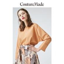 Vero Moda CoutureMade Women's Round Neckline Drop-shoulder Sleeves Chiffon Top Blouse   319151507