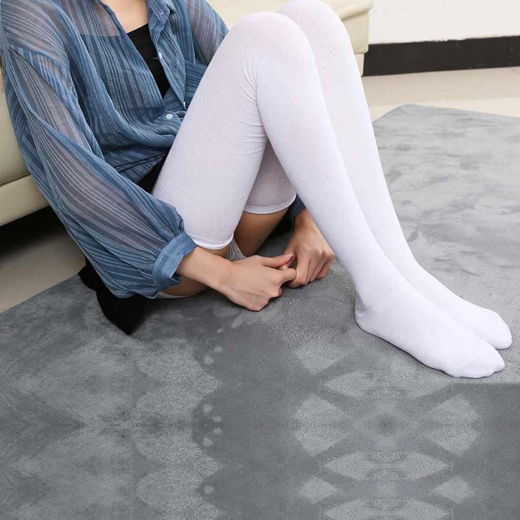 Женские шелковые чулки, модные однотонные чулки для девочек, сексуальные женские Повседневные Дышащие чулки выше колена, calcetines de la mujer