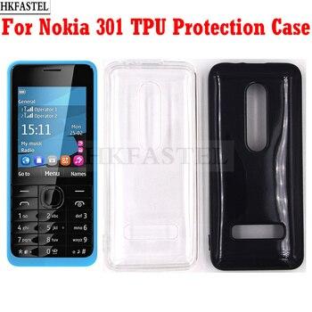 HKFASTEL защитный чехол для Nokia 301 одна/две Sim карты прозрачный мягкий ТПУ чехол для задней крышки Защитный чехол для камеры Бамперы      АлиЭкспресс