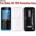 HKFASTEL защитный чехол для Nokia 301 одна/две Sim-карты прозрачный мягкий ТПУ чехол для задней крышки Защитный чехол для камеры