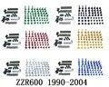 Мотоцикл Полный Обтекатель Болты комплект кузов винты для Fit KAWASAKI ZZR600 1990-2004