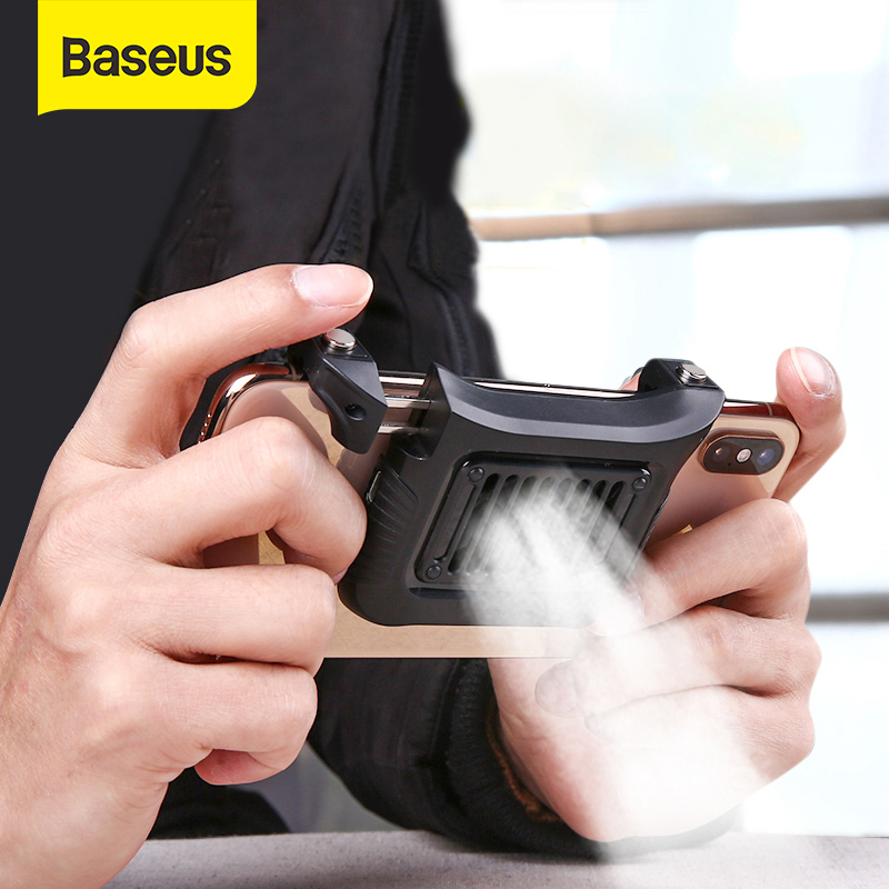 Baseus Mobile Phone Cooler For IPhone Xs Max Xs XR Game Shooter Controller For Samsung Forhuawei 4.7-6.5inch Phone Accessories
