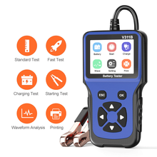 Diagnose-Tool Car-Battery-Tester V311B Automotive 12V 100-2000CCA Multi-Language