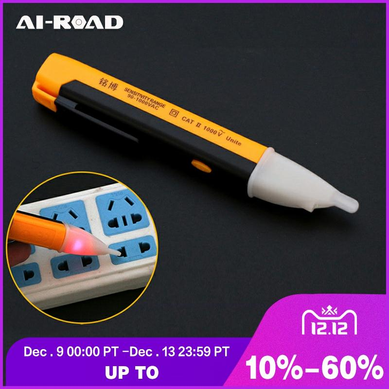 Electric Indicator 90-1000V Socket Wall AC Power Voltage Detector Sensor Tester Pen LED Light Indicator Measuring DIY Hand Tool