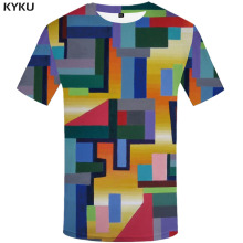 KYKU Graffiti T-shirt Men Colorful T-shirts 3d Vintage Tshirts Casual Art Tshirt Printed Harajuku Funny T shirts Short Sleeve