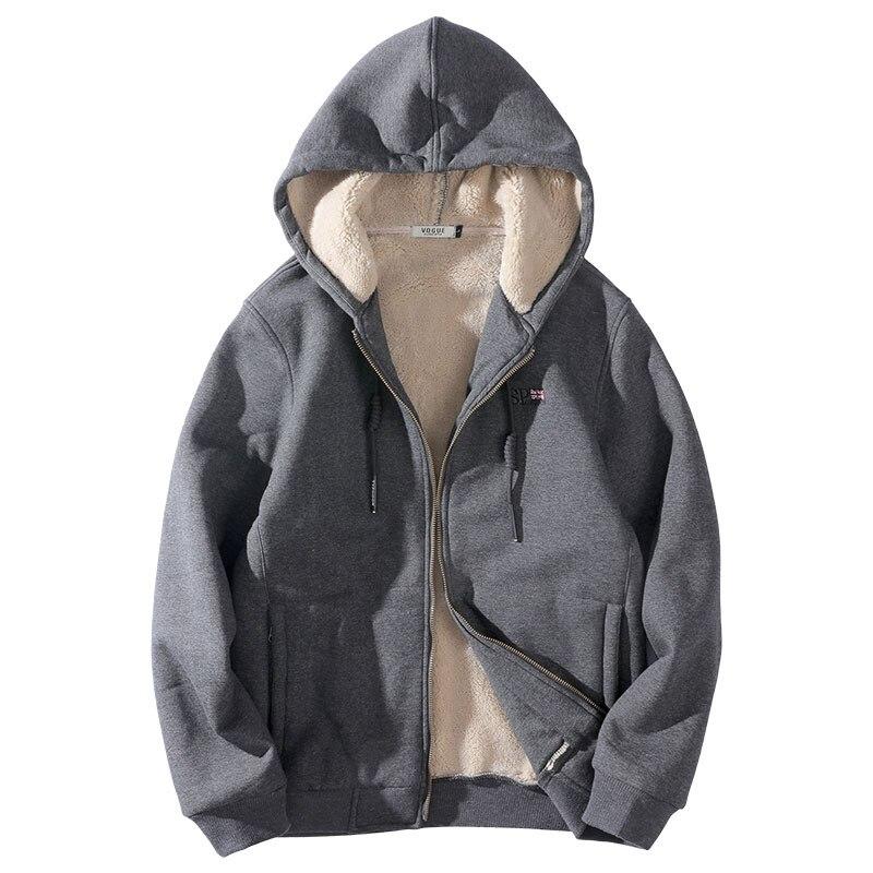Plus rozmiar bluzy z kapturem kurtki męskie jesień zima polar grube mężczyźni Streetwear bluza z kapturem 2019 duże wysokie mężczyźni kurtki płaszcz 5XL 8XL w Bluzy z kapturem i bluzy od Odzież męska na  Grupa 1