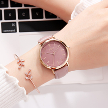 Women Leather Watch Japan Quartz Lady Classic Hours Fashion Clock Dress Bracelet Waterproof Quartz Watches Girl's Birthday Gift crystal rhinestone shell lady women s watch japan quartz hours clock fine fashion dress chain bracelet girl gift julius box
