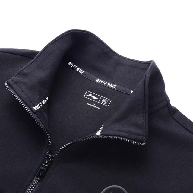 Li-Ning Men Wade Series Sweater Regular Fit 82% Cotton 18% Polyester Hoodie Zipper Closure LiNing Sports Jackets AWDP433 MWW1599 3