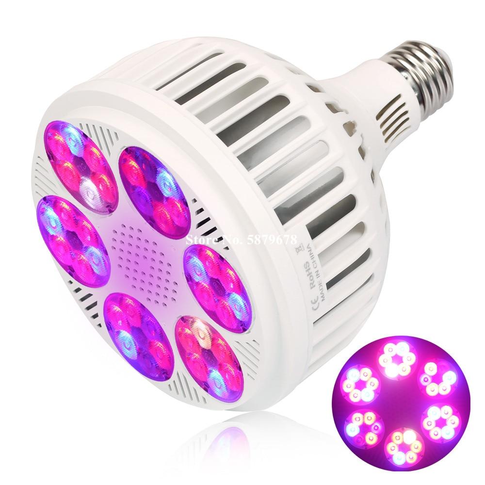 E27 120W светодиодный Grow светильник полный спектр 36 светодиодный s завод лампы для комнатных растений тент для теплицы гидропоники рассада рас...