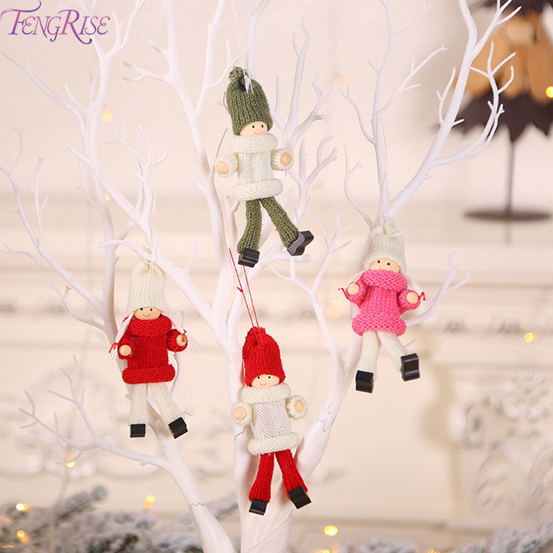 FENGRISE Cute Kawaii Christmas Angel Girl Boy Doll Tree Decoration Merry Decor For Home 2019 Xmas Kids Gifts