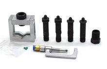 Universal diesel ferramenta de trilho comum injector combustível fix adaptador fixação kits reparo, trilho comum injector braçadeira ferramenta